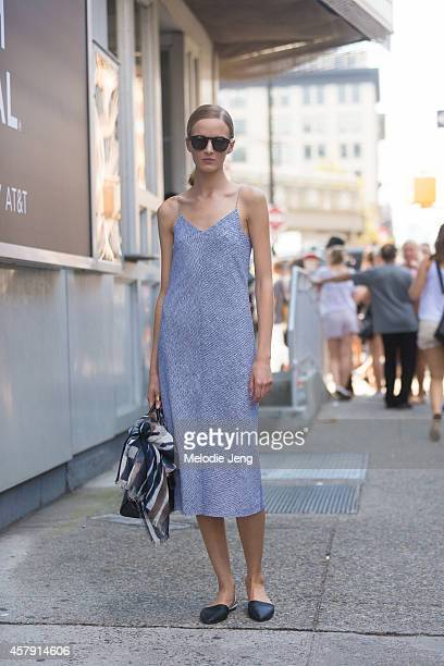 Russian model Daria Strokous exits Jason Wu at Spring Studios on Day 2 of New York Fashion Week Spring/Summer 2015 on September 5 2014 in New York...