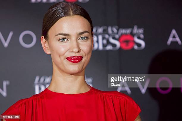 Russian model Irina Shayk attends a press conference to announce Avon's new Campaign 'Locas por los Besos' at St Regis Hotel on January 29 2015 in...