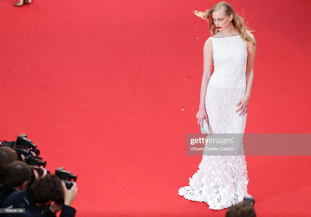 Russian model Tanya Dziahileva attends the Opening Ceremony and 'The Great Gatsby' Premiere during the 66th Annual Cannes Film Festival at the Theatre Lumiere on May 15, 2013 in Cannes, France.
