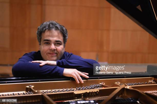 Russian musician Arcadi Volodos have reheasal before to perform his concert for Bologna Festival at Auditorium Manzoni on May 9 2017 in Bologna Italy