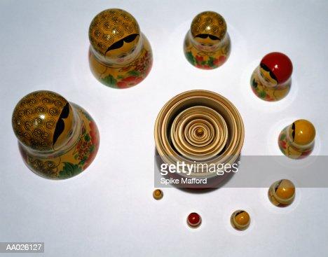 Russian Nesting Dolls : Stock Photo