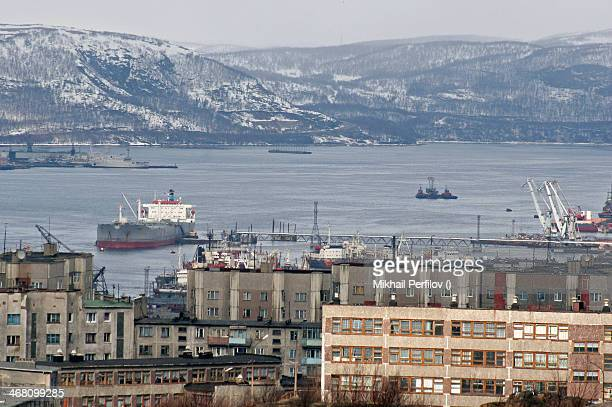 Russian oil tanker in Murmansk