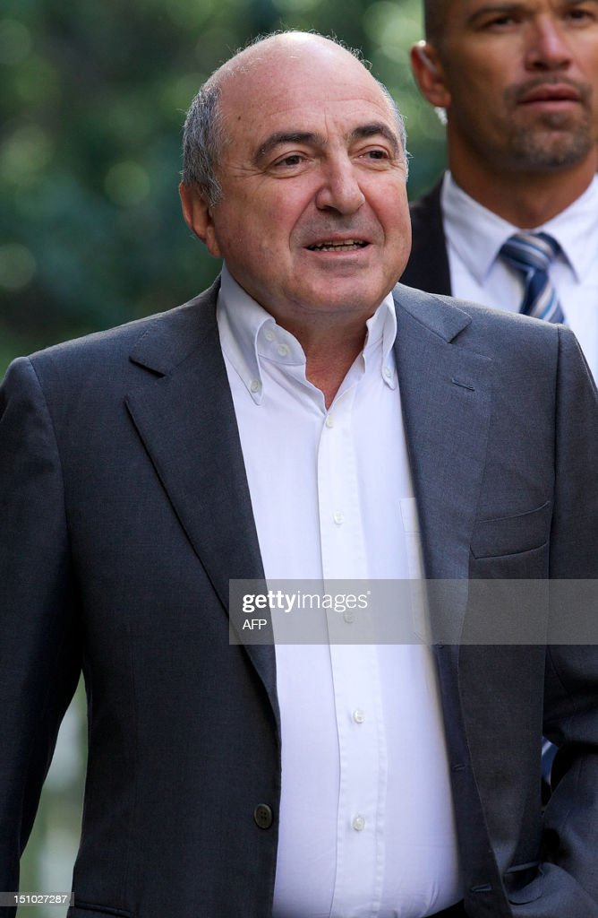Russian oligarch Boris Berezovsky arrives at London's High Court in central London, on August 31, 2012. Berezovsky lost his long-running battle in London High Court with fellow tycoon Roman Abramovich on Friday. Berezovsky, 66, was seeking more than £3 billion ($4.75 billion, 3.8 billion euros) in damages after accusing the 45-year-old owner of Chelsea football club of blackmail, breach of trust and breach of contract.