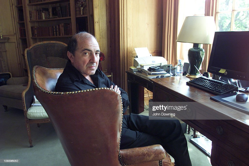 Russian oligarch Boris Berezovsky at his home in Egham, Surrey, where he lives in exile, 24th August 2002