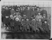 Russian orphans arriving in New York on board the 'USS Princess Matoika' following the end of World War One circa 19181925