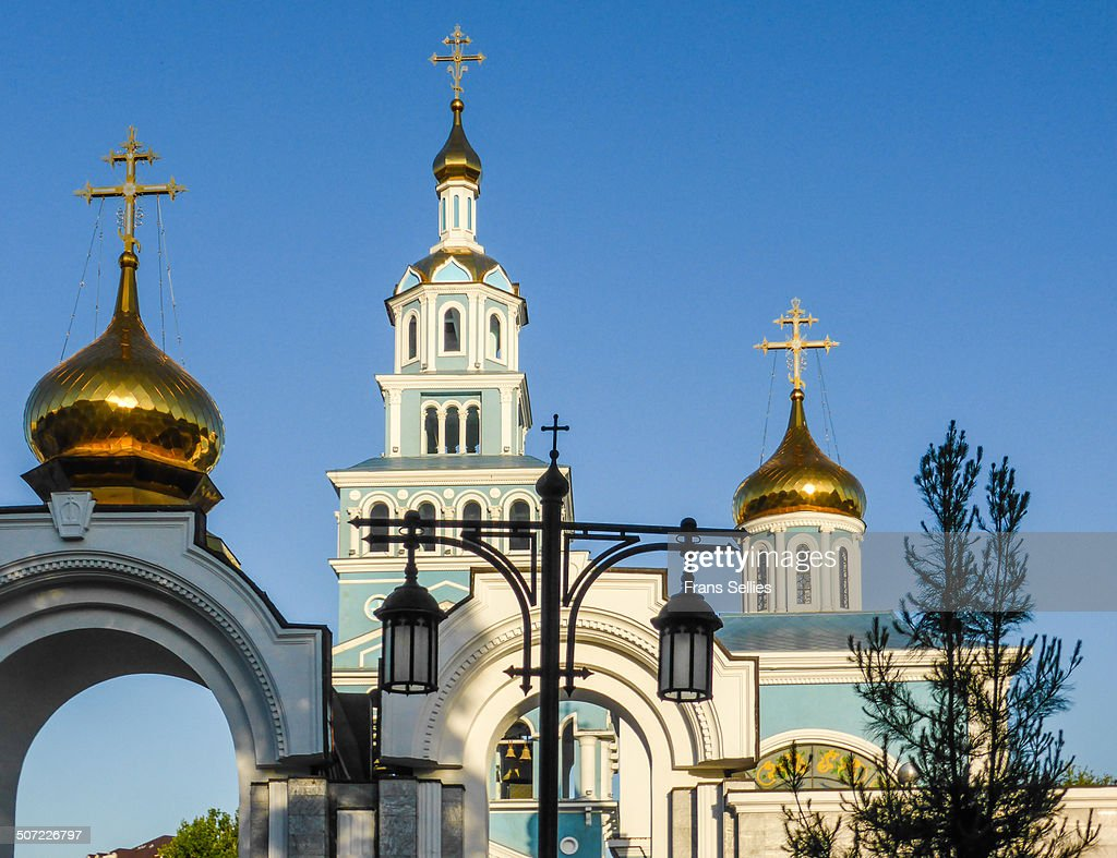 Russian orthodox Assumption cathedral in Tashkent