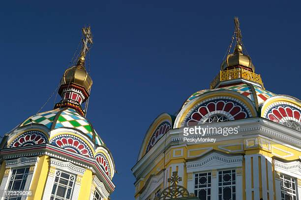 Russian Orthodox Domes in Almaty Kazakhstan