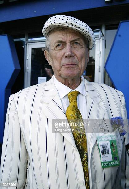 Russian poet Yevgeny Evtushenko during the opening ceremony of the XXVI Moscow International Film Festival at Russia's Cinema Hall June 18 2004 in...