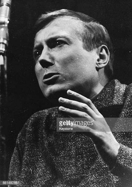 Russian poet Yevgeny Yevtushenko reciting some of his work at the Palais de Chaillot Paris February 27th 1963