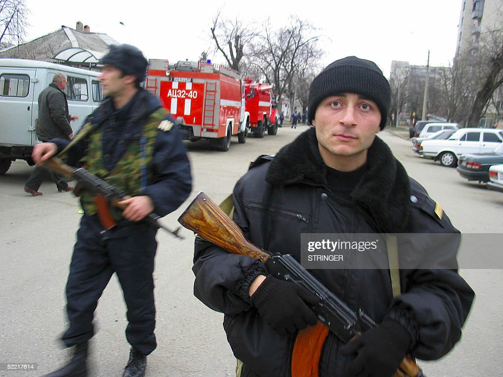 russian police officers block a street i pictures getty images