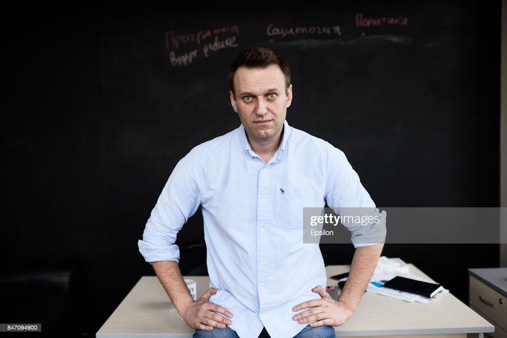 Russian politician Alexey Navalny