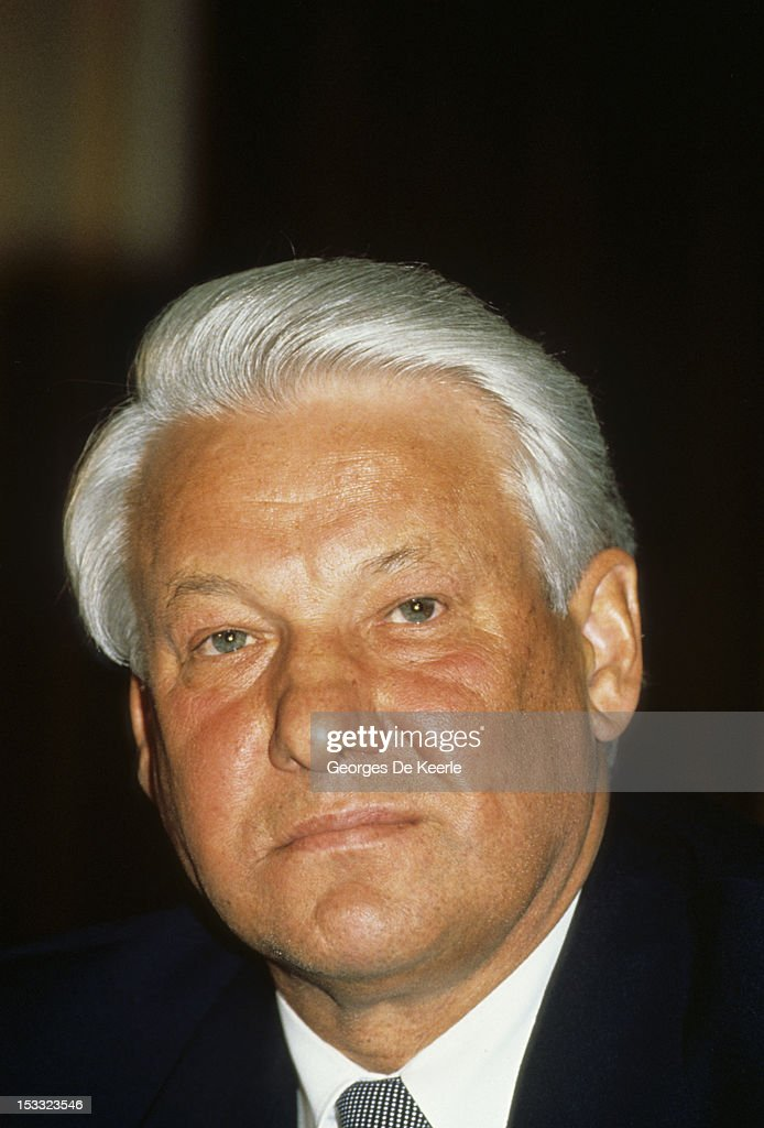 Russian politician <a gi-track='captionPersonalityLinkClicked' href=/galleries/search?phrase=Boris+Yeltsin&family=editorial&specificpeople=93169 ng-click='$event.stopPropagation()'>Boris Yeltsin</a> (1931 - 2007) in London, 27th April 1990.