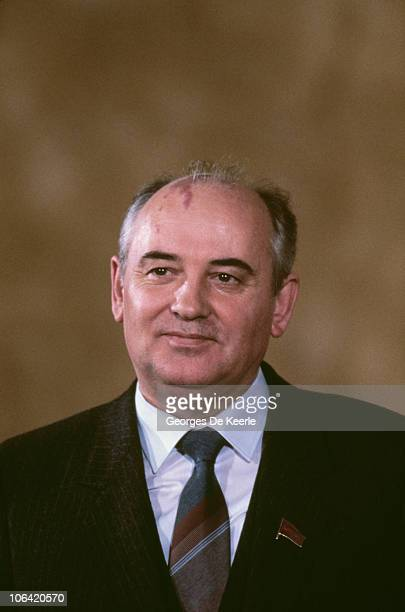 Russian politician Mikhail Gorbachev a member of the Politburo in London for a weeklong official visit December 1984