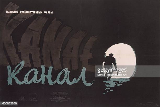 A Russian poster for the 1957 Polish film 'Kanal' directed by Andrzej Wajda and set during the 1944 Warsaw Uprising