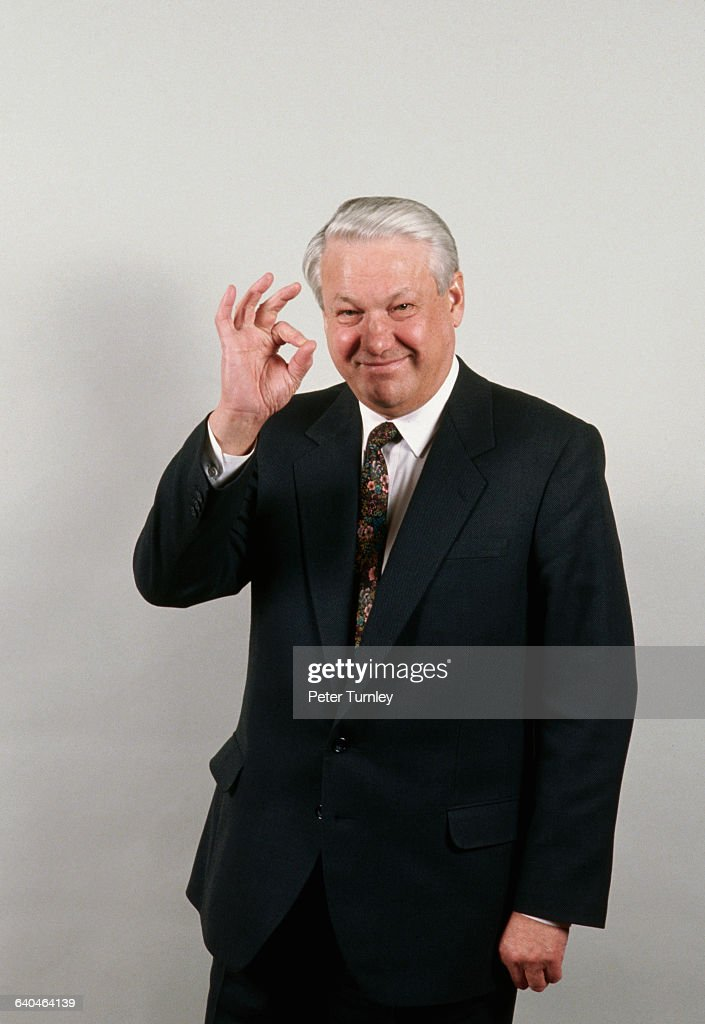 Russian President Boris Yeltsin Approving