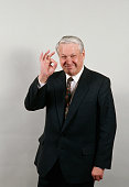 Russian President Boris Yeltsin Approving