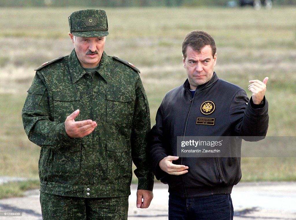 Medvedev And Lukaschenko Watch Combined Russian-Belarusian Military Exercis