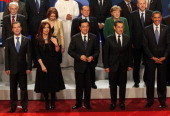 LR Russian President Dmitry Medvedev Argentina's President Cristina Kirchner China Prime Minister Hu Jintao French President Nikolas Sarkozy and...