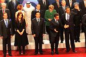 Russian President Dmitry Medvedev Argentina's President Cristina Kirchner China Prime Minister Hu Jintao French President Nikolas Sarkozy and...