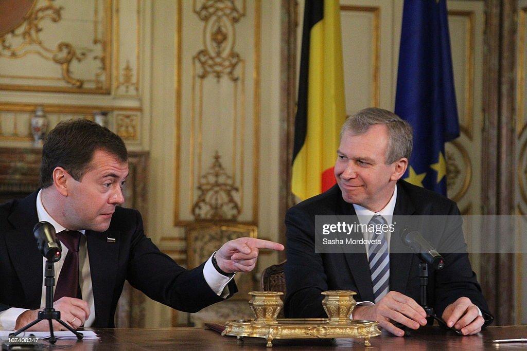 Medvedev Meets Belgian PM