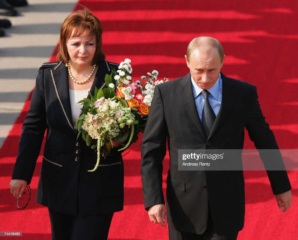 Russian President <a gi-track='captionPersonalityLinkClicked' href=/galleries/search?phrase=Vladimir+Putin&family=editorial&specificpeople=154896 ng-click='$event.stopPropagation()'>Vladimir Putin</a> and his wife Ludmila Alexandrowna Putina arrive for the G8 summit June 6, 2007 in Rostock-Laage, Germany. Putin and other world leaders are meeting amid rifts between Russia and the U.S. over an American proposal for a missle defense system in Europe and amid divisions over how to address climate change.