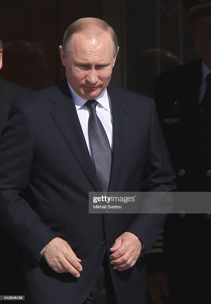 Russian President <a gi-track='captionPersonalityLinkClicked' href=/galleries/search?phrase=Vladimir+Putin&family=editorial&specificpeople=154896 ng-click='$event.stopPropagation()'>Vladimir Putin</a> arrives to the Tashkent International Airport in Tashkent, Uzbekistan, June, 23, 2016. Putin has arrived to Uzbekistan to attend the Shanghai Cooperation Organisation (SCO) Summit.