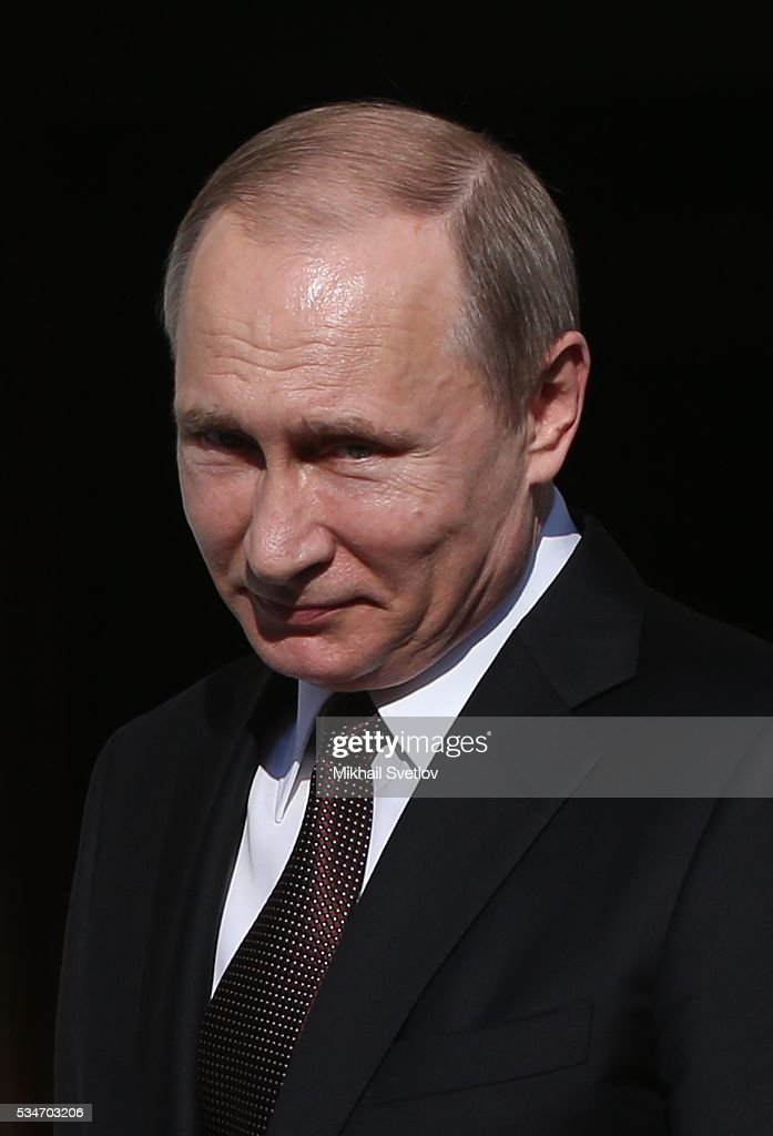 Russian President <a gi-track='captionPersonalityLinkClicked' href=/galleries/search?phrase=Vladimir+Putin&family=editorial&specificpeople=154896 ng-click='$event.stopPropagation()'>Vladimir Putin</a> attends a meeting with Prime Minister of Greece Alexis Tsipras (not pictured) in Athens, Greece, May 27, 2016. <a gi-track='captionPersonalityLinkClicked' href=/galleries/search?phrase=Vladimir+Putin&family=editorial&specificpeople=154896 ng-click='$event.stopPropagation()'>Vladimir Putin</a> is having a state visit to Greece.