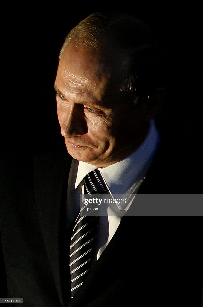 Russian President <a gi-track='captionPersonalityLinkClicked' href=/galleries/search?phrase=Vladimir+Putin&family=editorial&specificpeople=154896 ng-click='$event.stopPropagation()'>Vladimir Putin</a> attends the congress of the United Russia party on December 17, 2007 in Moscow, Russia. President <a gi-track='captionPersonalityLinkClicked' href=/galleries/search?phrase=Vladimir+Putin&family=editorial&specificpeople=154896 ng-click='$event.stopPropagation()'>Vladimir Putin</a> has backed Russian First Vice Prime Minister Dmitry Medvedev as presidential candidate to replace him after he leaves office next year, Russian news agencies reported.