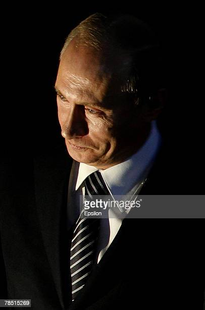 Russian President Vladimir Putin attends the congress of the United Russia party on December 17 2007 in Moscow Russia President Vladimir Putin has...