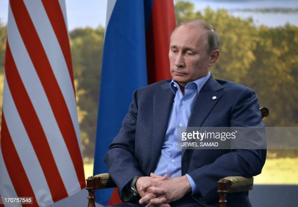 Russian President Vladimir Putin holds a bilateral meeting with US President Barack Obama during the G8 summit at the Lough Erne resort near...