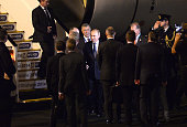 Russian President Vladimir Putin is greeted on arrival at the G20 international airport on November 14 2014 in Brisbane Australia World leaders have...