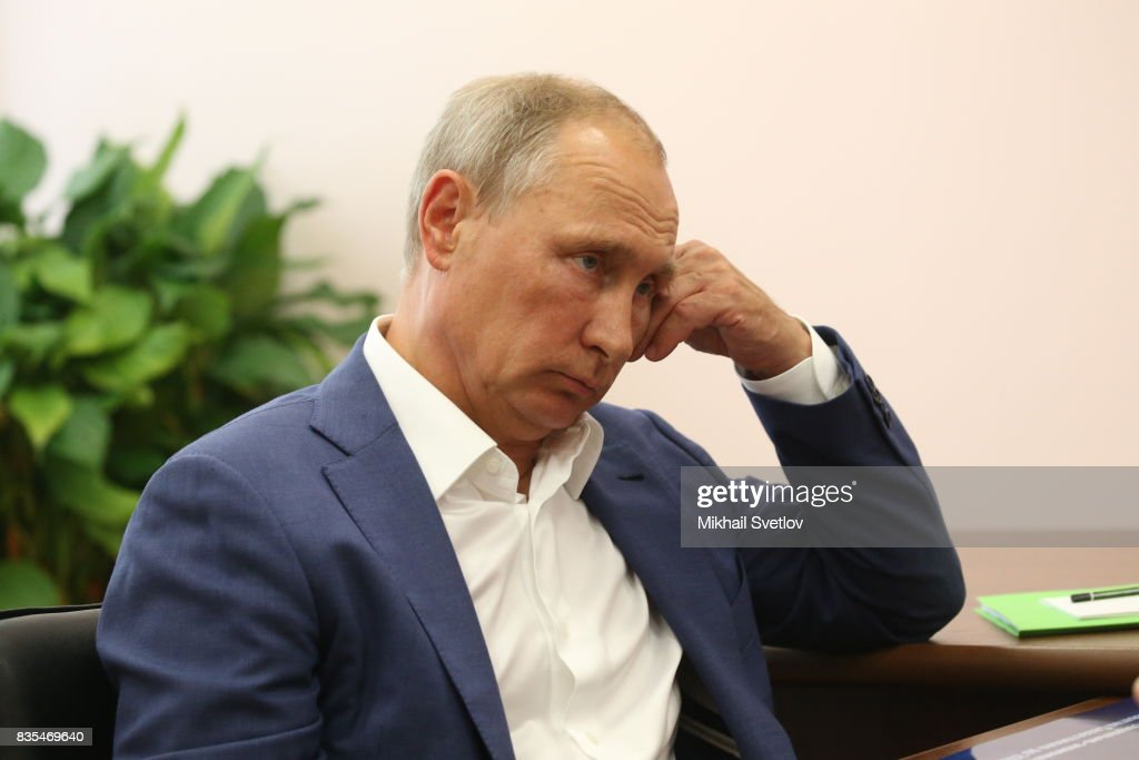 Russian President Vladimir Putin is seen during his meeting with Governor of Sevastopol Dmitry Ovsyannikov (not pictured) on August 18, 2017 on Sevastopol, Crimea. Vladimir Putin is in a three day trip to the Black Sea city of Sevastopol, located in Crimean Peninsula, a disputed territory between Ukraine and Russia, annexed in 2014. Photo by Mikhail Svetlov/Getty Images)