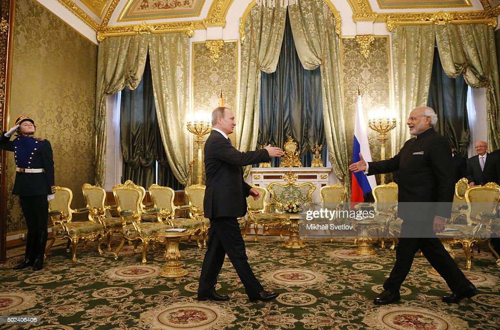 Russian President Meets Indian Prime Minister Modi