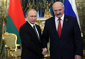 Russian President Vladimir Putin meets with Belarussian President Alexander Lukashenko in the Grand Kremlin Palace March 3 2015 in Moscow Russia...
