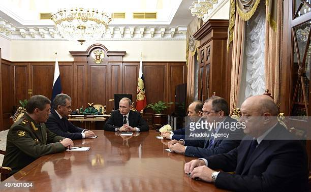 Russian President Vladimir Putin Russian Defense Minister Sergey Shoygu Russian Foreign Minister Sergey Lavrov Chief of the General Staff of the...