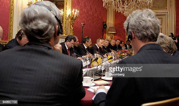 Russian President Vladimir Putin speaks at a meeting of Dutch business leaders in Amsterdam The Netherlands Tuesday November 1 2005 The Netherlands...
