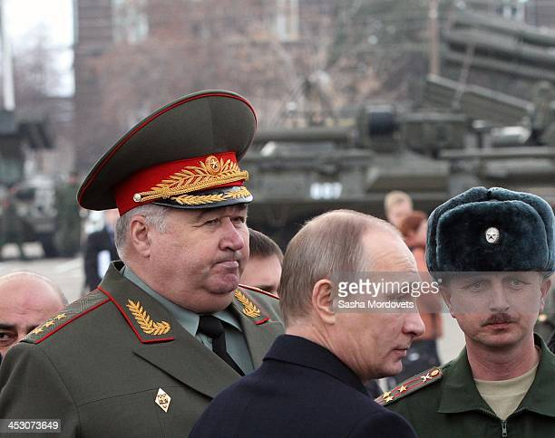 Russian President Vladimir Putin visits the 102nd military base December 2 2013 in Gyumri Armenia Putin is in a oneday state visit to Armenia