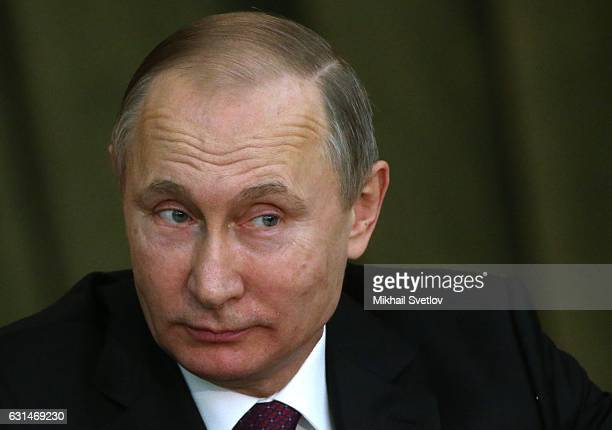 Russian President Vladimir Putin visits the Prosecutor General's Office on January 2017 in Moscow Russia Vladimir Putin congratulated the Prosecutor...