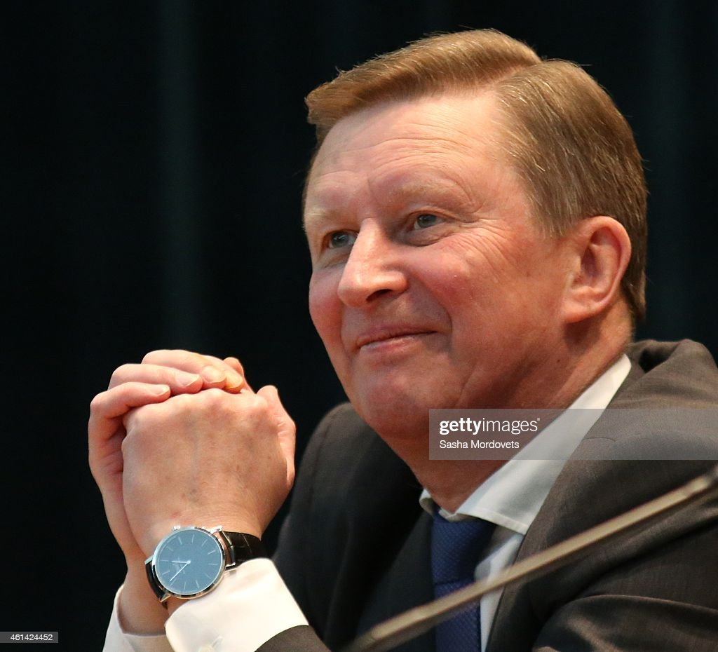 Russian Presidential Administration Chief of Staff Sergei Ivanov speaks during a meeting in the Prosecturor's General Office on January 12 2015 in...