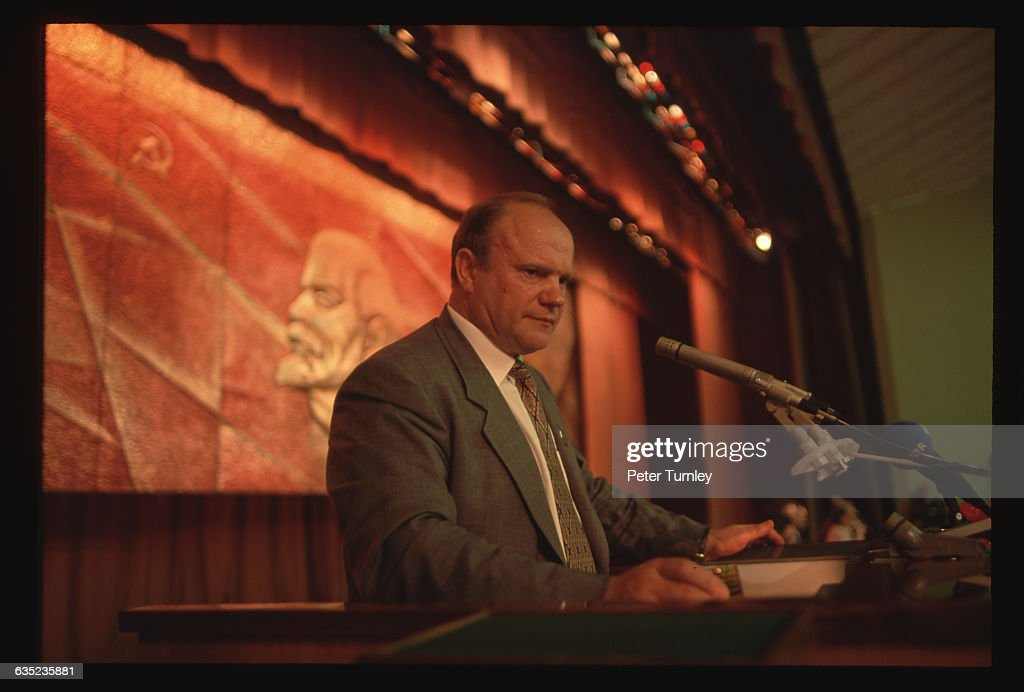 Russian presidential candidate <a gi-track='captionPersonalityLinkClicked' href=/galleries/search?phrase=Gennady+Zyuganov&family=editorial&specificpeople=213936 ng-click='$event.stopPropagation()'>Gennady Zyuganov</a> campaigns in Yekaterinburg in May 1996.