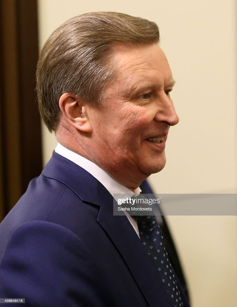 Russian Presidential Chief of Staff Sergei Ivanov attends a meeting with military commanders and other officials of Russian Defence Ministry in...