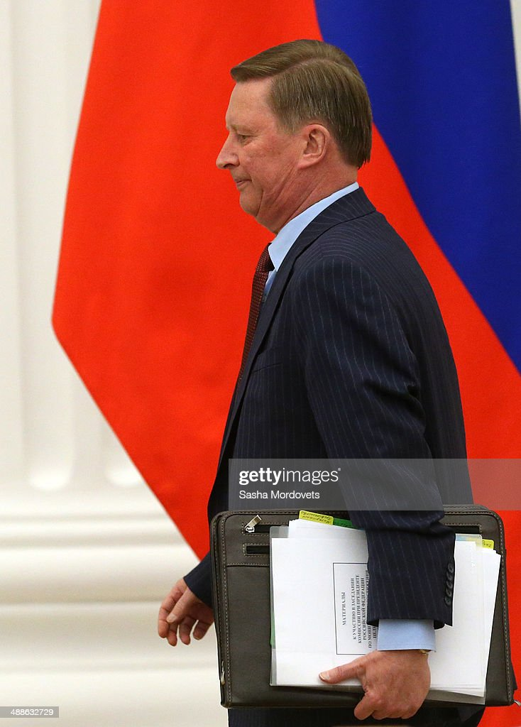 Russian Presidential Chief of Staff Sergei Ivanov attends a meeting with ministers and Russian President Vladimir Putin on April 07 2014 in Moscow...