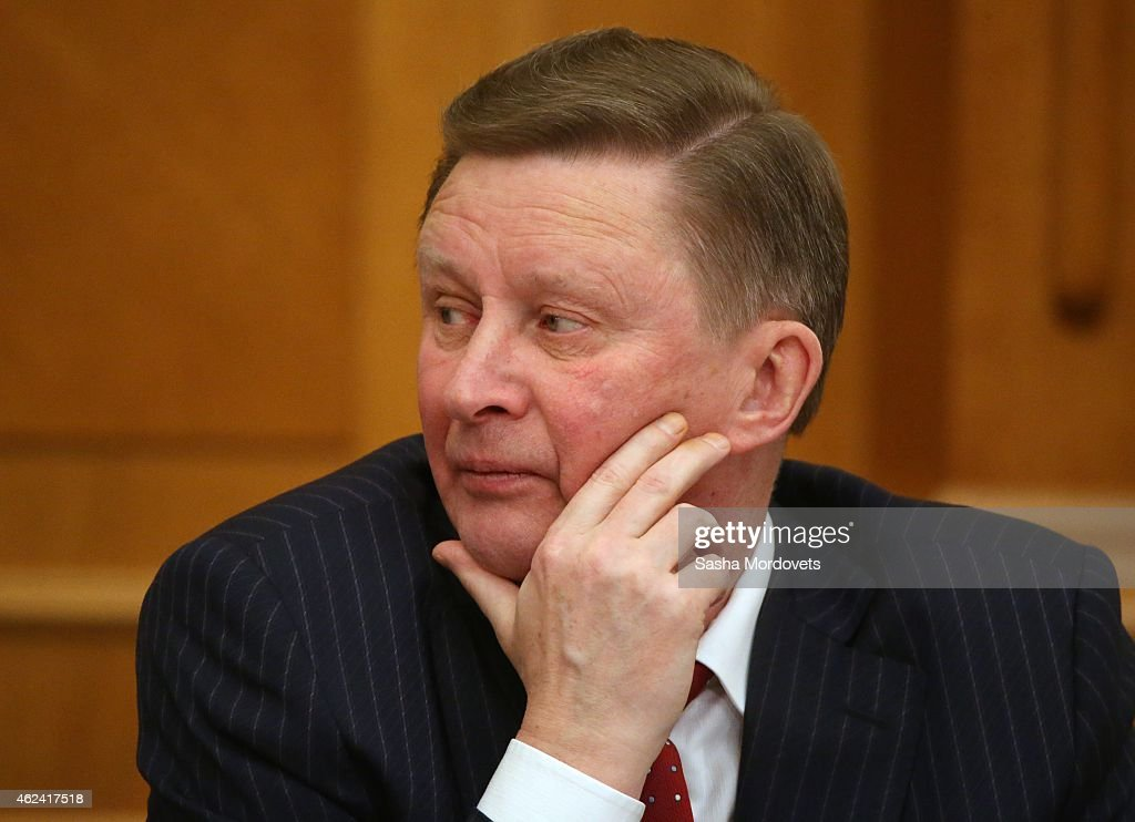Russian Presidential Deputy Chief of Staff Sergei Ivanov attends a meeting at the Accounts Chamber January 28 2015 in Moscow Russia