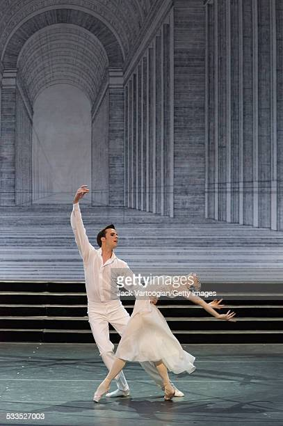 Russian prima ballerina Diana Vishneva dances the title role with Konstantin Zverev as 'The Prince' in the Mariinsky Ballet production of Sergei...