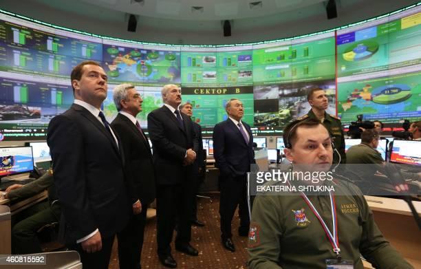 Russian Prime Minister Dmitry Medvedev Armenian President Serge Sarkisian Belarus President Alexander Lukashenko Kyrgyz President Almazbek Atambayev...