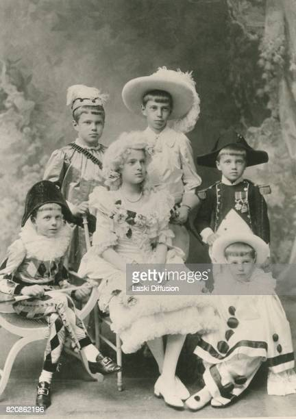 Russian Princes Andrei Feodor Nikita Dmitry Rostislav and Princess Irina children of Grand Duchess Xenia Alexandrovna of Russia and Grand Duke...