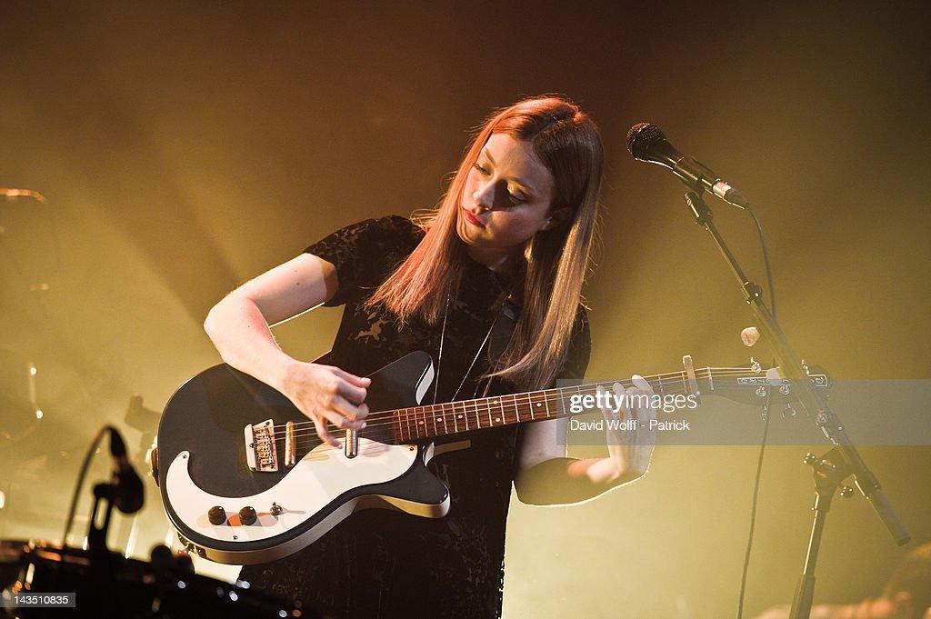 Russian Red performs at Cafe de la Danse on April 27, 2012 in Paris, France.