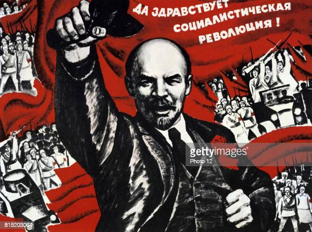 Russian Revolution October 1917 Vladimir Ilyich Lenin Russian revolutionary Undated Communist poster