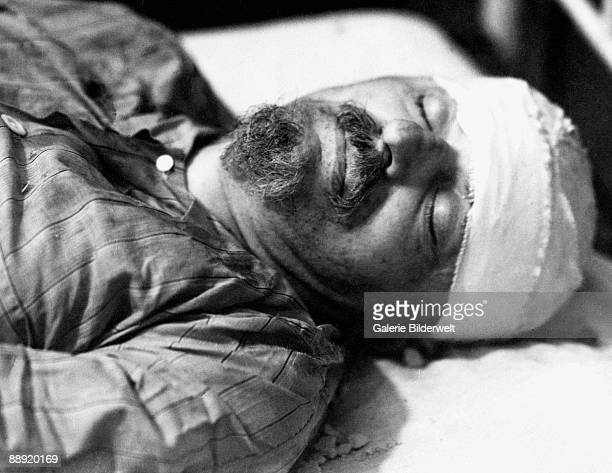 Russian revolutionary Leon Trotsky dies in hospital in Mexico City 20th August 1940 He had been attacked by NKVD agent Ramon Mercader with an ice axe...