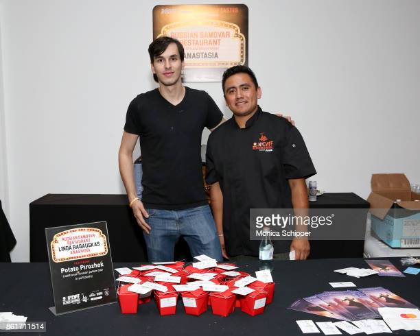 Russian Samovar Restaurant presents their dish Potato Pirozhok during Broadway Tastes presented by Variety at Metropolitan West on October 15 2017 in...